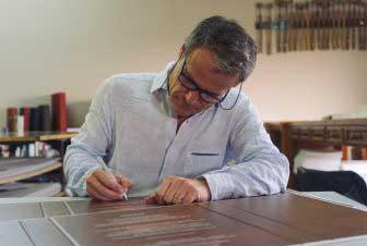 Javier Vila. Amor por la caligrafía